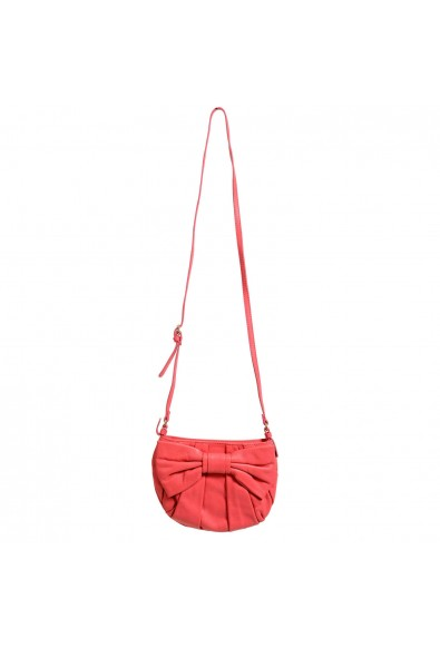 Red Valentino Women's Pink 100% Leather Bow Decorated Shoulder Bag