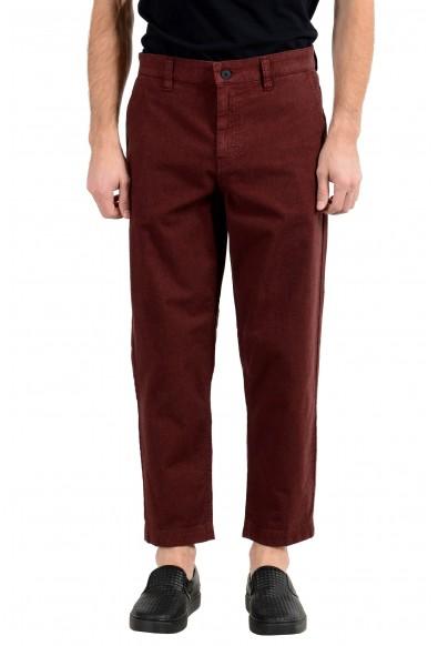 "Hugo Boss ""Salt C"" Men's Burgundy Stretch Casual Pants"