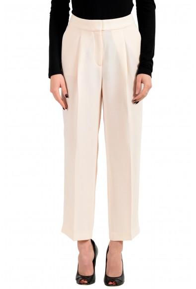 "Hugo Boss Women's ""Arela"" Light Pink Pleated Pants"
