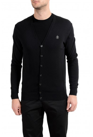 Roberto Cavalli Men's Cashmere Black Cardigan Sweater