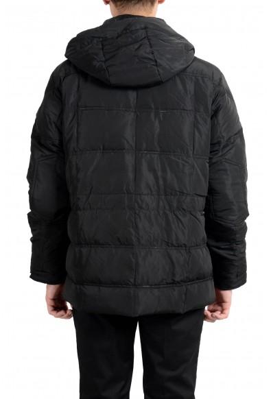 Roberto Cavalli Men's Down Black Full Zip Hooded Parka Jacket: Picture 2