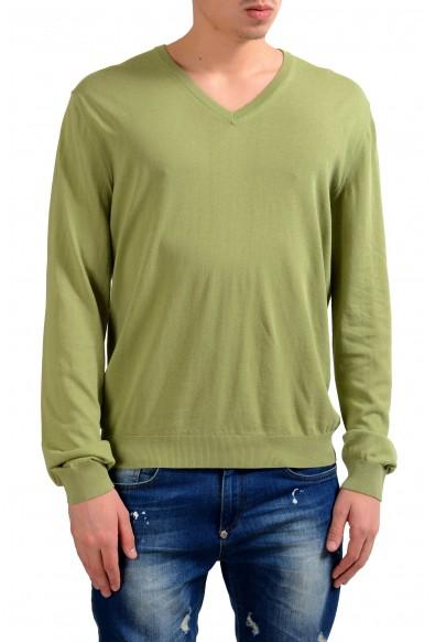 Malo Men's V-Neck Light Pullover Green Sweater