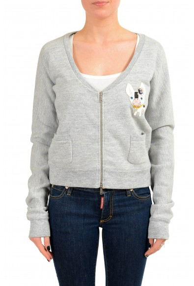 Dsquared2 Women's Gray Embellished Full Zip Track Jacket
