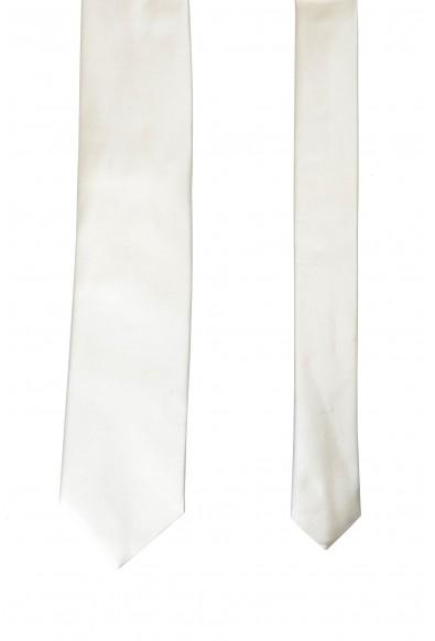 Hugo Boss Men's Solid Off White 100% Silk Tie: Picture 2