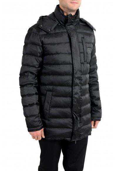 Roberto Cavalli Men's Down Black Full Zip Parka Hooded Jacket: Picture 2