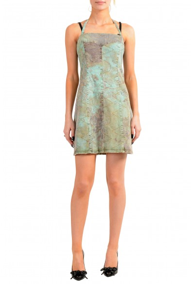 Just Cavalli Women's Multi-Color Distressed Look Mini Dress