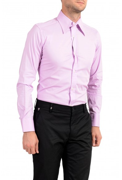 Dolce&Gabbana Men's Purple Stretch Long Sleeve Dress Shirt: Picture 2