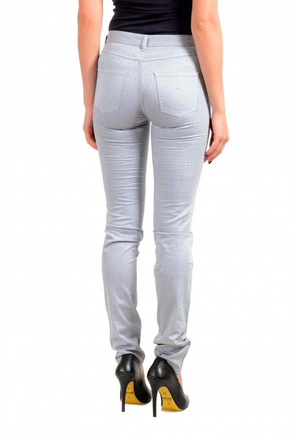 Maison Margiela MM6 Women's Gray Perforated Light Jeans: Picture 3