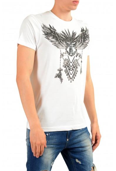 Roberto Cavalli Men's White Graphic Print T-Shirt : Picture 2