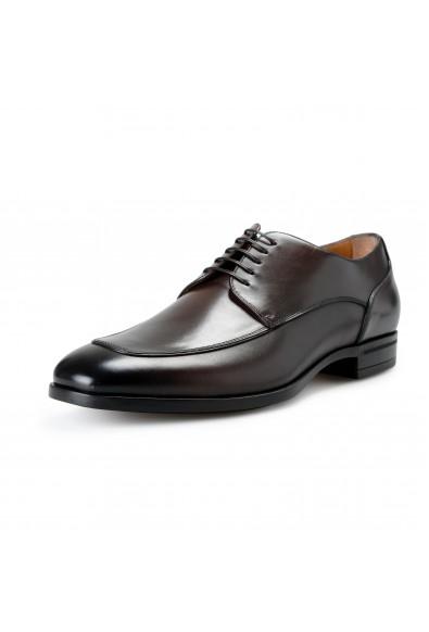 "Hugo Boss Men's ""Portland_Derb_Itap"" Dark Brown Leather Derby Shoes"