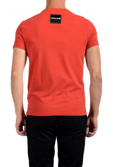 """Roberto Cavalli """"SPORT"""" Men's Red Embellished Stretch T-Shirt : Picture 2"""