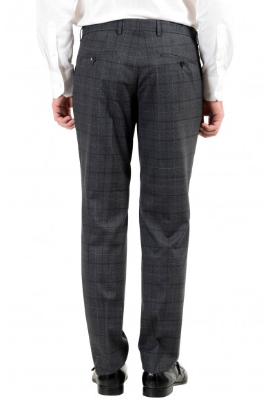 "Hugo Boss ""Huge6/Genius5"" Men's 100% Wool Slim Plaid Gray Two Button Suit: Picture 2"