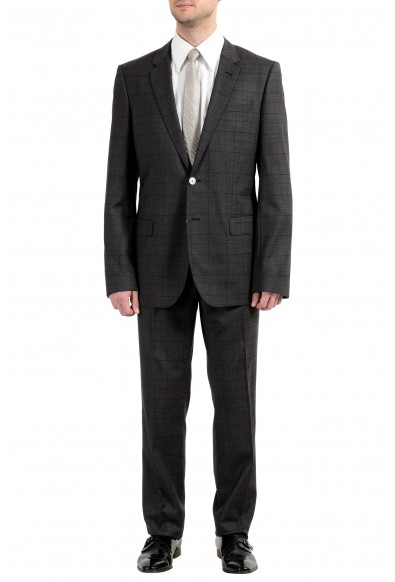 """Hugo Boss """"C-Hutson1/C-Gander"""" Men's Wool Plaid Two Button Suit"""