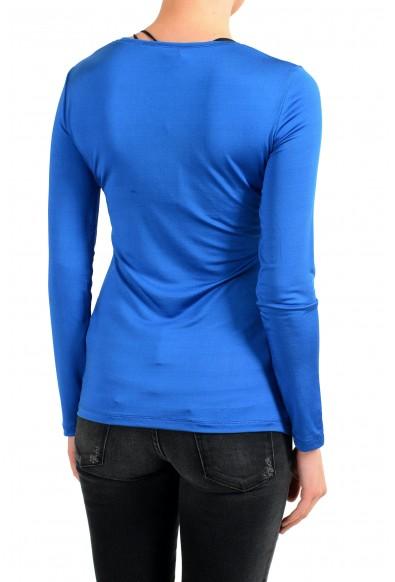 Versace Jeans Women's Blue Crewneck Long Sleeve Top: Picture 2