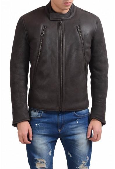 Maison Martin Margiela Men's Leather Shearling Brown Jacket
