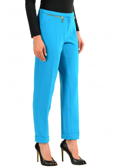 Versace Collection Women's Blue Stretch Casual Pants: Picture 2