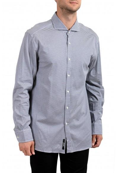 "Hugo Boss Men's ""T-Swain"" Slim Fit Striped Long Sleeve Dress Shirt"