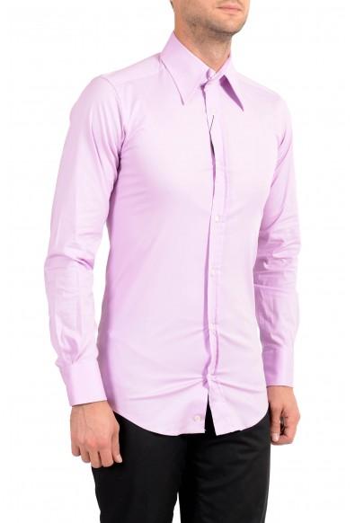 Dolce&Gabbana Men's Purple Stretch Long Sleeve Dress Shirt