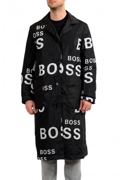 "Hugo Boss Men's ""Dwight"" Logo Print Reversible Insulated Coat"