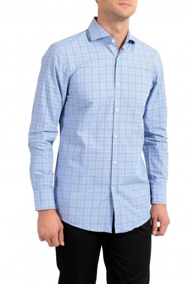"Hugo Boss Men's ""Mark US"" Sharp Fit Plaid Long Sleeve Dress Shirt"