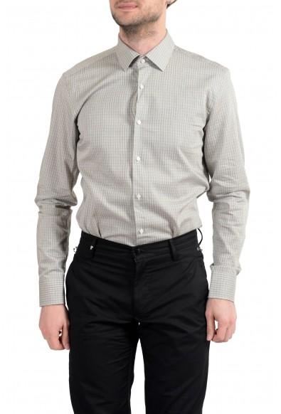 "Hugo Boss ""Jenno"" Men's Plaid Slim Fit Long Sleeve Dress Shirt : Picture 2"