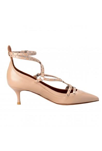 Valentino Garavani Women's Leather Beige Ankle Strap Kitten Heels Shoes: Picture 2