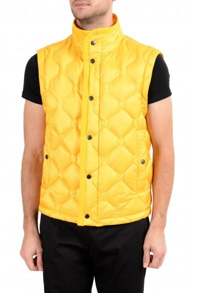 """Hugo Boss """"Donair1"""" Men's Duck Down Yellow Full Zip Vest"""