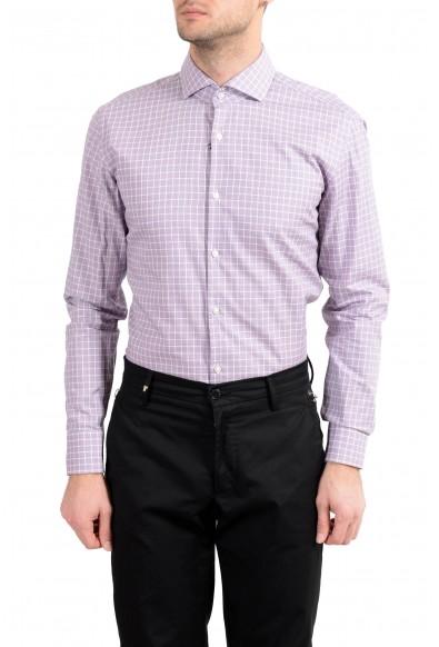 "Hugo Boss ""Jason"" Men's Slim Plaid Long Sleeve Dress Shirt: Picture 2"