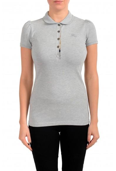 Burberry Women's Gray Short Sleeves Polo Shirt