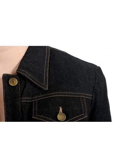 Roberto Cavalli Women's Off Black Lightly Insulated Denim Jacket : Picture 2