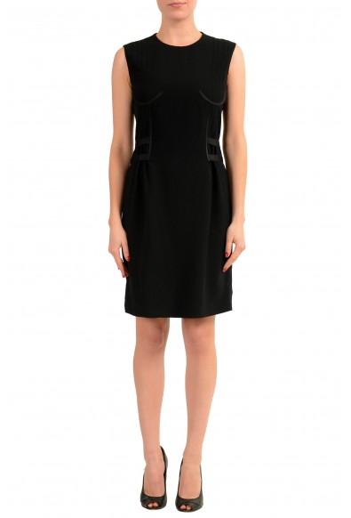 Maison Margiela 1 Women's Black Wool Sleeveless Sheath Dress