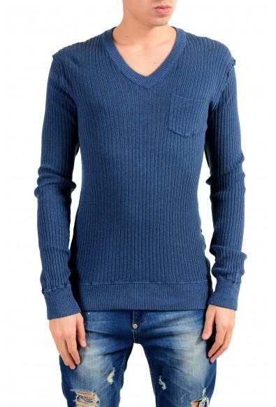 Dolce & Gabbana Men's V-Neck Blue Sweater