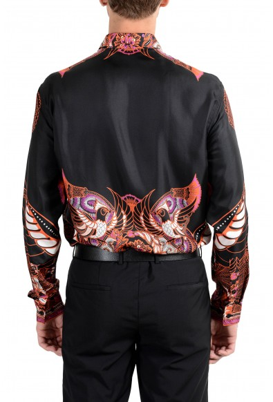 """Versace Collection """"Trend"""" Men's 100% Silk Graphic Long Sleeve Dress Shirt: Picture 2"""