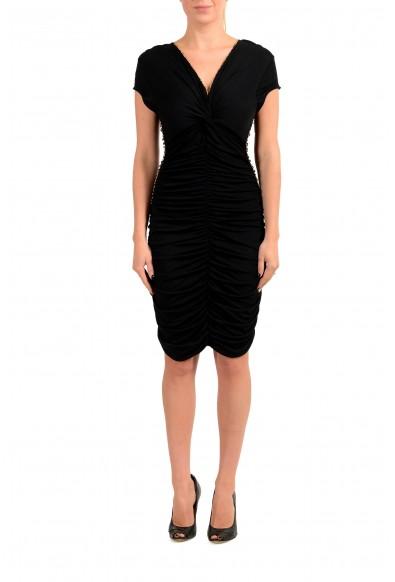 Just Cavalli Women's Black Cup Sleeve Bodycon Dress