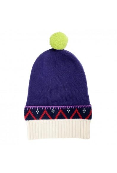 Burberry Unisex Cashmere Wool Multi-Color Pompon Beanie Hat