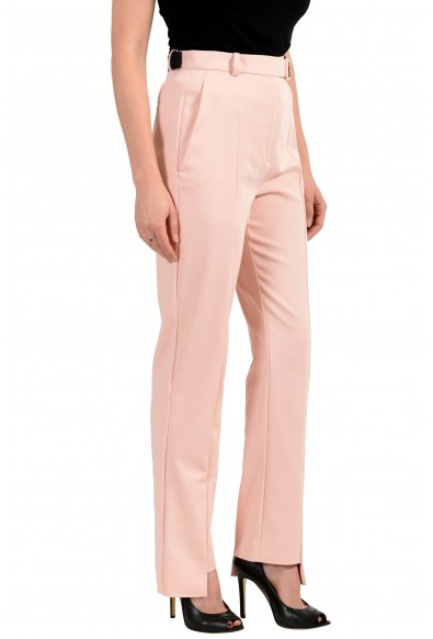 Versace Women's Light Pink Belted Pants: Picture 2