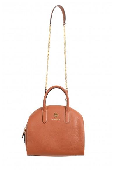 Roberto Cavalli Women's Brown Leather Shoulder Handbag Satchel Bag