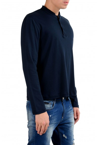 Malo Men's Navy Blue Long Sleeve Henley Shirt: Picture 2