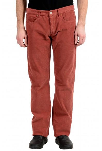 Gucci Men's Brick Red Corduroy Straight Leg Jeans