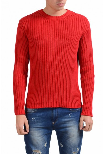 Malo Men's Red Heavy Knitted Crewneck Sweater