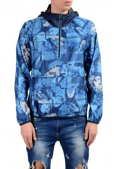 "Hugo Boss ""Jepico"" Men's 1/2 Zip Hooded Water-Resistant Windbreaker Jacket"