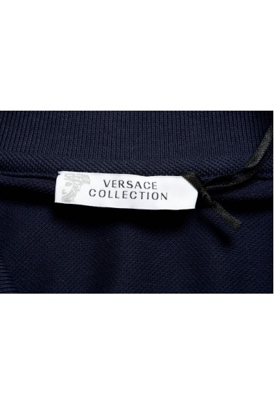 Versace Collection Men's Navy Blue Short Sleeve Polo Shirt: Picture 2