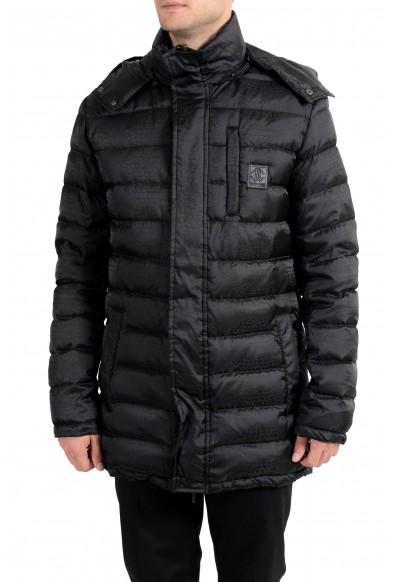 Roberto Cavalli Men's Down Black Full Zip Parka Hooded Jacket