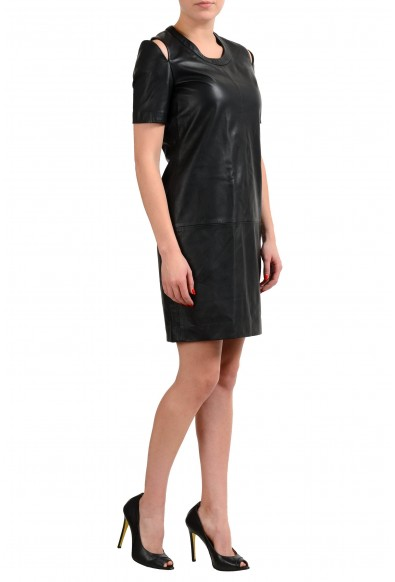 Maison Margiela 1 100% Leather Black Women's Sheath Dress: Picture 2