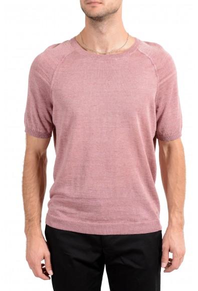 "Hugo Boss ""Olvin"" Men's 100% Linen Knitted Crewneck Short Sleeve Casual Shirt"