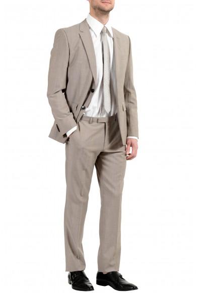 "Hugo Boss ""Jeffery/Simmons182"" Men's 100% Wool Beige Two Button Suit: Picture 2"