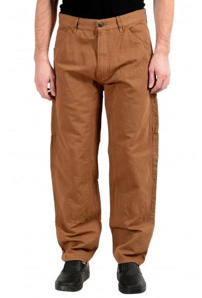 "Hugo Boss ""Sice-D"" Men's Linen Tapered Fit Brown Casual Pants"