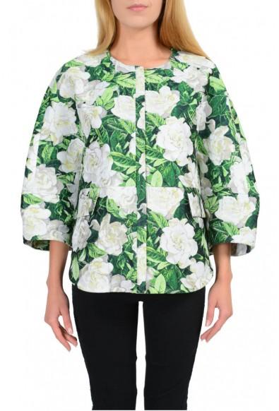 "Moncler ""Anastasie Giubbotto"" Gamme Rouge Multi-Color Floral Basic Jacket"