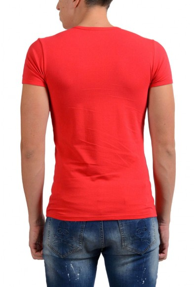 Versace Collection Men's Red Stretch Crewneck Short Sleeve T-Shirt: Picture 2