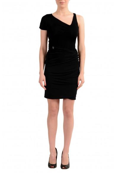 Just Cavalli Women's Black Sheath Stretch Dress